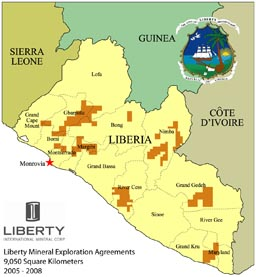 Liberty Mineral Exploration Licenses October 26 2005 following delineation process