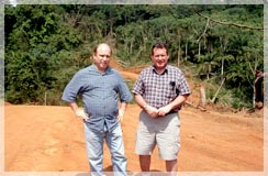 Tony Leblanc Liberia GM and Greg Nowak CPG Regional Exploraiton mgr for Liberia inspecting completion of the road to Belefuani / Toto Range prospect