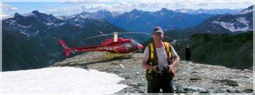 Lawrence Buss PGeo, Liberty Regional Exploration Manager, on the Orphir Lade property Kootenay Arc BC